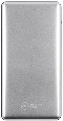 Внешний аккумулятор Red Line Tech PDP-3А (10000 mAh) Power Delivery QC 2.0/QC 3.0 2USB и Type-C серебро