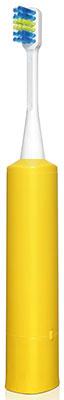 Детская электрическая зубная щетка Hapica для детей 3 года до 10 лет. Желтая.
