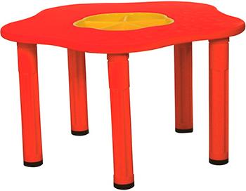 цена Столик King Kids ''Сэнди'' с системой хранения мелочей цвет Красный KK_KM 1200_R онлайн в 2017 году