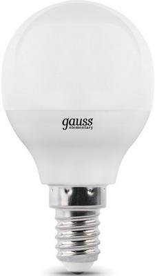 Лампа GAUSS LED Elementary Globe 10 W E 14 2700 K 53110 лампа gauss led elementary globe 6w e 27 2700 k 53216