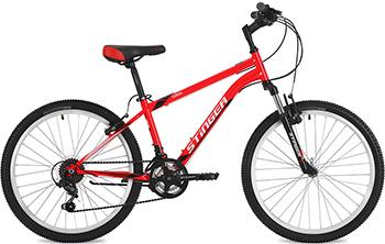 Велосипед Stinger 24'' Caiman 14'' красный 24 SHV.CAIMAN.14 RD8 берет женский фабрика оренбургских пуховых платков цвет красный шп 034 19 размер универсальный