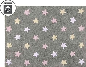 Ковер Lorena Canals Триколор Звезды Stars Tricolor (серо-розовый) 120*160 C-ST-P lumo stars мягкая игрушка lumo stars волк woody 15 см серо зелёный