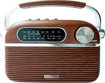 Радиоприемник Hyundai H-PSR 200 дерево коричневое/серебристый hyundai h psr120 серебристый