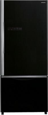 Двухкамерный холодильник Hitachi R-B 502 PU6 GBK чёрное стекло