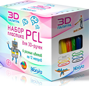 Набор пластика HONYA 6 различных цветов (SC-PCL-06) 1CSC 20003543 фото