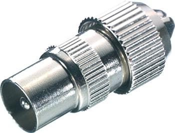 Переходник Vivanco металл (48011) vivanco коаксиальный