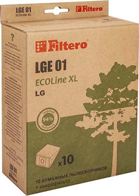 Набор пылесборников Filtero, LGE 01 ECOLine XL 10 шт., Россия  - купить со скидкой