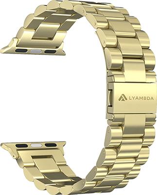 Фото - Ремешок для часов Lyambda из нержавеющей стали для Apple Watch 38/40 mm KEID DS-APG-02-40-GL Gold смотреть ремешок ремешок весна бар ссылка pin remover ремонт инструмента из нержавеющей стали