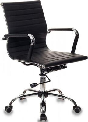Кресло руководителя Бюрократ CH-883-LOW/BLACK черный кресло бюрократ ch 605 black черный