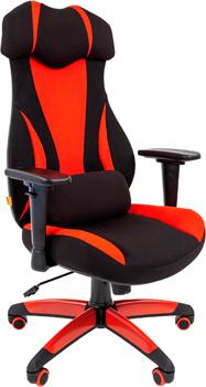 Кресло Chairman game 14 ткань черн./красн. 00-07022220 фото