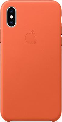 Чехол для мобильных телефонов Apple Leather Case для iPhone XS цвет (Sunset) тёплый закат MVFQ2ZM/A