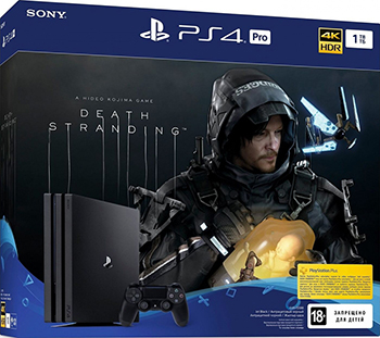 Стационарная приставка Sony PlayStation 4 Pro 1TB Black + игра Death Stranding (CUH-7208B)