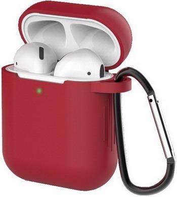 Фото - Чехол для наушников Eva для Apple AirPods 1/2 с карабином - Красное вино (CBAP40RV) сифон для душевого поддона unicorn easyopen с латунным выпуском 1 1 2 d40 с отводом g311e
