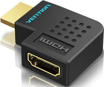 Фото - Адаптер-переходник Vention HDMI v2.0 19M/19F угол 90 (AIBB0) переходник vention hdmi mini