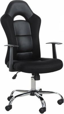 Кресло Brabix ''Fusion EX-560'' экокожа/ткань хром черное 531581
