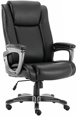 Кресло Brabix PREMIUM ''Solid HD-005'' НАГРУЗКА до 180 кг рециклированная кожа черное 531941