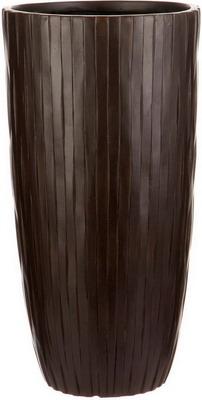 Напольный горшок для цветов Идеалист Lite Буллет файберстоун коричневый Д32 В61.5 см 49 л ROWV32-AB
