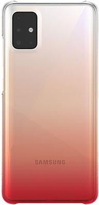Фото - Чехол (клип-кейс) Samsung Galaxy A51 WITS Gradation Hard Case красный (GP-FPA515WSBRR) чехол клип кейс samsung для samsung galaxy s10 marvel case ironman красный gp g975hifghwb