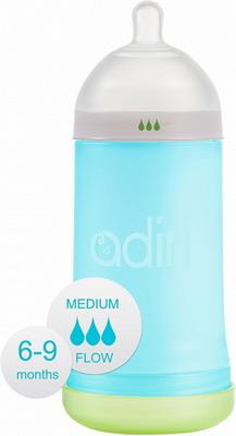 Набор для кормления детей Adiri NxGen Medium Flow Blue 6-9 мес. 281 мл бутылочка с системой подачи лекарства грудничку adiri md 118 мл