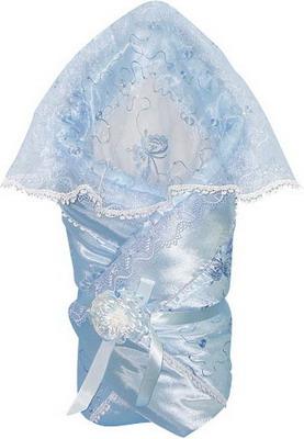 Одеяло-конверт Маргарита Из атласа с накидкой кружево органза весна-осень синтепон пл. 200 (голубой) маргарита одеяло конверт на выписку маргарита велюровое с рюшей и уголком весна осень синтеп