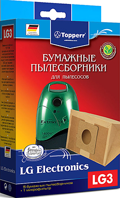 Набор пылесборников Topperr 1018 LG 3 topperr lg 3