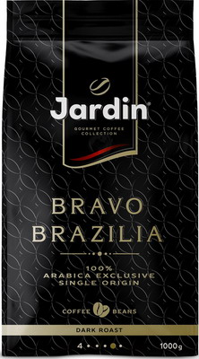 Кофе зерновой Jardin Bravo Brazilia 1кг цена
