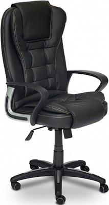 купить Офисное кресло Tetchair BARON (кож/зам черный/черный перфорированный 36-6/36-6/06) по цене 9990 рублей