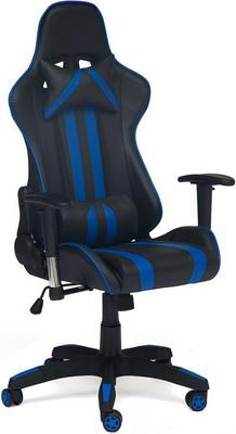 Кресло Tetchair iCar кож/зам черный/синий кресло tetchair icar кож зам черный оранжевый