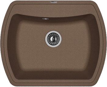 Кухонная мойка Florentina Нире-630 630х510 мокко FSm искусственный камень кухонная мойка florentina касси 780 780х510 антрацит fsm