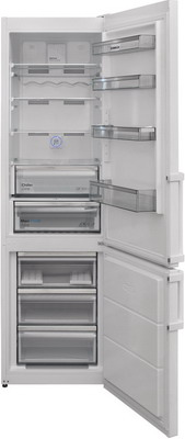 лучшая цена Двухкамерный холодильник Scandilux CNF 379 EZ W White