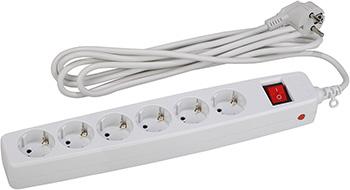 Сетевой фильтр ЭРА SF-6es-2m-W (белый) эра sf 1e w white сетевой фильтр