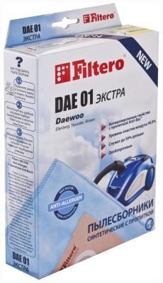 Набор пылесборников Filtero DAE 01 (4) ЭКСТРА Anti-Allergen filtero sam 01 4 экстра anti allergen
