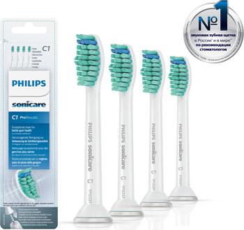 Комплект насадок Philips HX 6014 Sonicare ProResults зубная щетка philips hx 6762 43 sonicare healthywhite