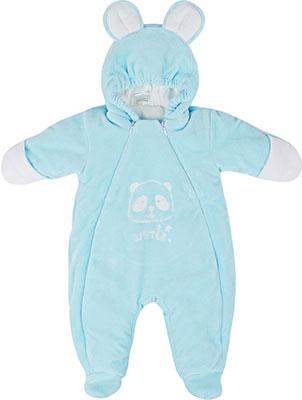 Комбинезон Picollino велюровый Мишка утепленный СК3-КМ001 (в) св.голубой 68-44(22) 6 мес. комбинезон утепленный для новорожденного boom вариант 2 цвет молочный 90011 bom размер 68 6 месяцев