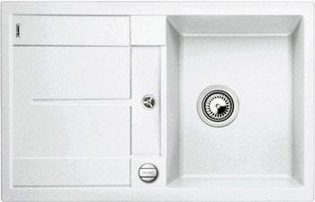 Кухонная мойка BLANCO METRA 45 S-F белый с клапаном-автоматом кухонная мойка blanco metra 6 s f белый с клапаном автоматом
