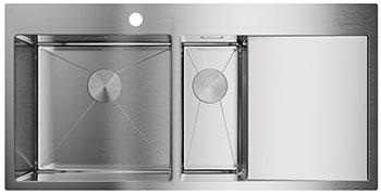 Кухонная мойка OMOIKIRI Akisame 100-2-IN-L нерж.сталь/нержавеющая сталь (4973544) недорого