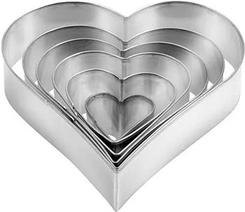 Формочки - сердца Tescoma DELICIA 6шт 631362 двухсторонние пасхальные формочки delicia 8 размеров quelle tescoma 1011610