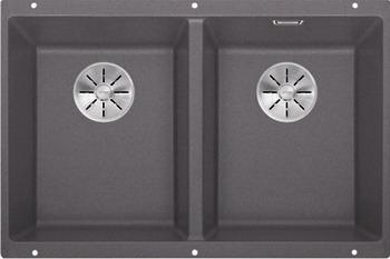 Кухонная мойка BLANCO SUBLINE 350/350-U SILGRANIT темная скала с отв.арм. InFino 523575 blanco subline 400 u silgranit темная скала с клапаном автоматом