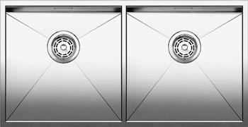 Кухонная мойка Blanco ZEROX 400/400-IF нерж. сталь зеркальная полировка без клапана авт 521619 кухонная мойка blanco zerox 700 u нерж сталь зеркальная полировка без клапана авт 521593