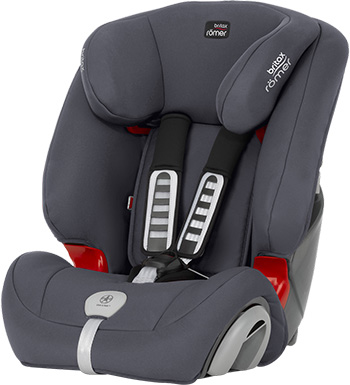 Автокресло Britax Roemer Evolva 123 Plus Storm Grey Trendline 2000026838 автокресло детское britax roemer first class plus black marble highline от 0 до 18 кг 2000022955 черный