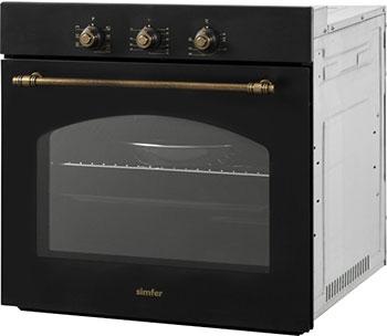 Встраиваемый электрический духовой шкаф Simfer B6EL 18017 чёрный недорго, оригинальная цена