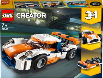 Конструктор Lego Оранжевый гоночный автомобиль Creator 3 in 1 31089 цена
