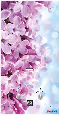 Газовый водонагреватель Neva 4510 Glass (цветы розовые) невидимка для волос funny bunny розовые цветы 2 шт