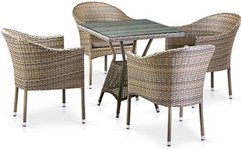 Комплект мебели Афина T 706 G/Y 350 G-W 1289 4Pcs Pale