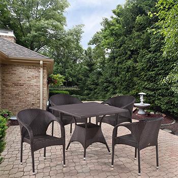 Комплект мебели Афина T 190 BD/Y 290 B-W 52 Brown 4Pcs
