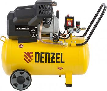 Компрессор DENZEL DKV 2200/50Х-PRO 58083 компрессор denzel рс 1 6 180 1100вт 180л мин 6л