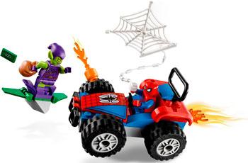 Конструктор Lego Автомобильная погоня Человека-Паука 76133
