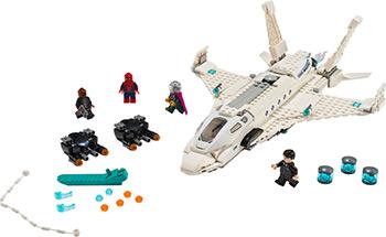 Конструктор Lego Super Heroes Реактивный самолёта Старка и атака дрона 76130