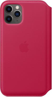 Чехол (флип-кейс) Apple для iPhone 11 Pro Leather Folio - Raspberry MY1K2ZM/A чехол флип кейс apple leather folio для apple iphone 11 pro зеленый павлин [my1m2zm a]