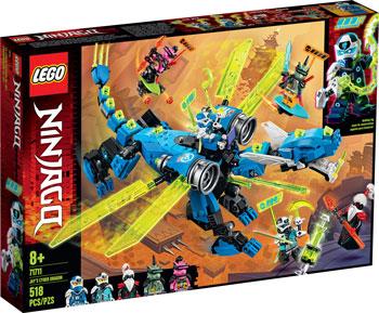 Конструктор Lego Ninjago Кибердракон Джея 71711 lego ninjago конструктор крыло судьбы 70650